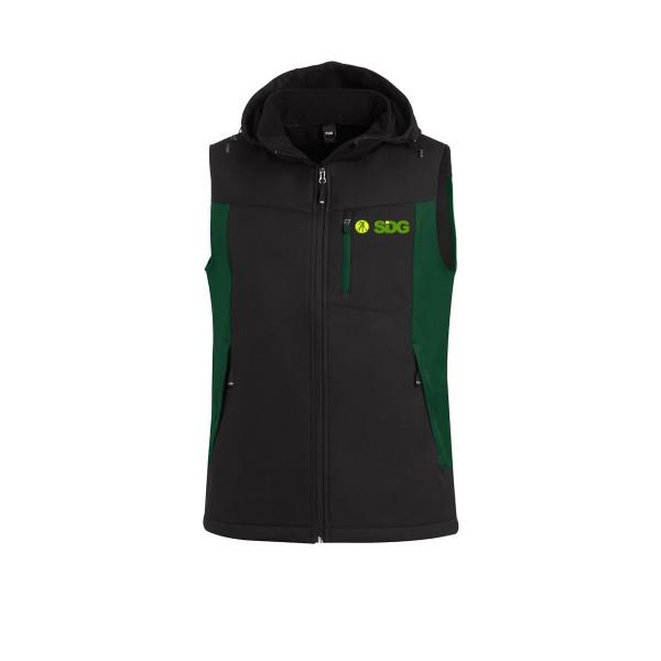 FHB JUSTUS Softshellweste grün-schwarz