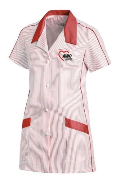 Damenkasack 1/2 Arm weiß/rot