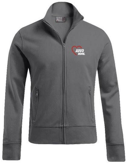 Jacket Stand-Up Collar Herren steel grey solid E5290