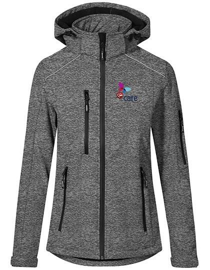 Women`s Softshell Jacket heather grey
