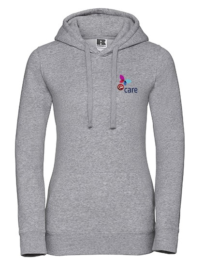 Ladies` Authentic Hooded Sweat light oxford