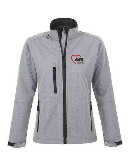 Softshell Jacket Roxy Damen grey melange
