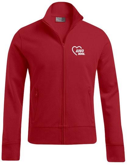 Jacket Stand-Up Collar Herren fire red
