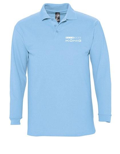 Langarm Poloshirt Winter sky blue L549
