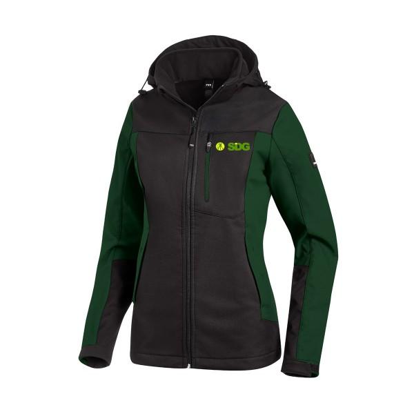 FHB JULIA Softshell-Jacke Damen grün-schwarz