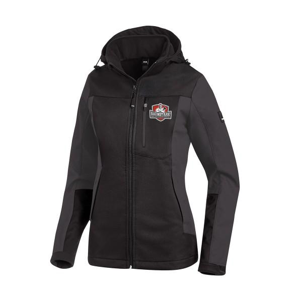 FHB JULIA Softshell-Jacke Damen anthrazit-schwarz