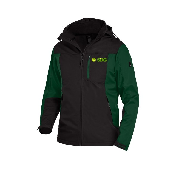 FHB JANNIK Softshelljacke grün-schwarz
