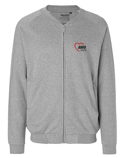 Unisex Jacket with Zip sports grey
