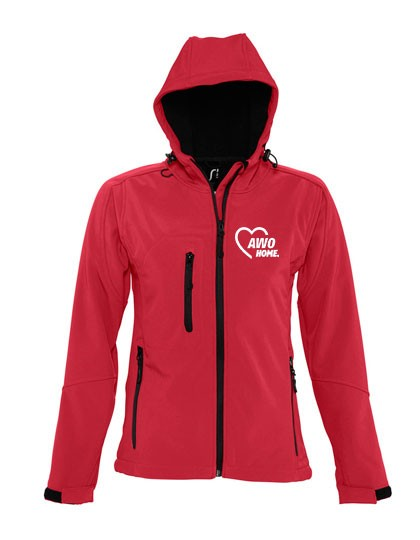 Hooded Softshell Jacket Replay Damen pepper red