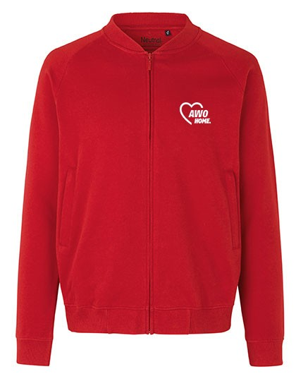 Unisex Jacket with Zip red
